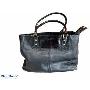 Kate Spade NY black leather & patent leather tote